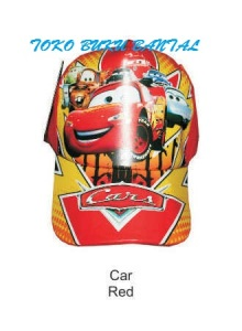 Topi Karakter Cars Red