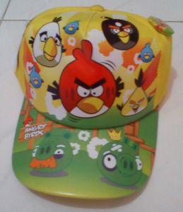 Topi Karakter Angry Birds Yellow