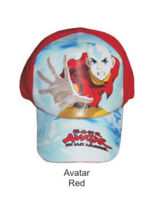 Topi Karakter Avatar Red