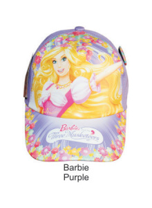 Topi Karakter Barbie Purple