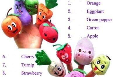 Boneka Jari Buah dan Sayur